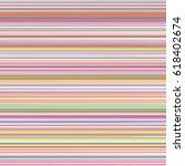 retro colors horizontal striped ... | Shutterstock .eps vector #618402674