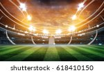 lights at night and stadium 3d | Shutterstock . vector #618410150