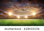stadium in lights and flashes... | Shutterstock . vector #618410156