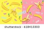 spring summer banner  poster in ...   Shutterstock .eps vector #618413303