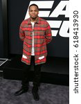 "Small photo of NEW YORK-APR 8: Actor Mack Wilds attends the premiere of ""The Fate of the Furious"" at Radio City Music Hall on April 8, 2017 in New York City."
