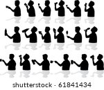 drinking silhouettes | Shutterstock .eps vector #61841434