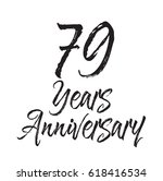 79 years anniversary  text... | Shutterstock .eps vector #618416534