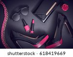fashion design woman... | Shutterstock . vector #618419669