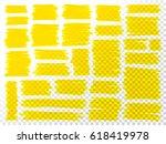 marker scribbles vector. big... | Shutterstock .eps vector #618419978