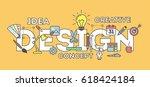 design concept illustration on... | Shutterstock . vector #618424184