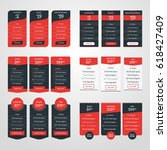set of pricing table design... | Shutterstock .eps vector #618427409