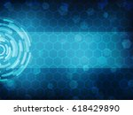cyber security concept  on... | Shutterstock .eps vector #618429890