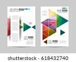 brochure template  flyer design ... | Shutterstock .eps vector #618432740