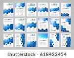 set of brochure template  flyer ... | Shutterstock .eps vector #618433454