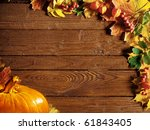 Autumn Background With Colored...