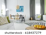 bright  functional house with... | Shutterstock . vector #618437279