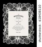 laser cut vector wedding... | Shutterstock .eps vector #618438110