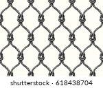 rope seamless tied fishnet... | Shutterstock .eps vector #618438704