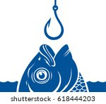 vector blue fish head and...