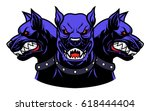 vector illustration of angry... | Shutterstock .eps vector #618444404