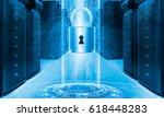 server data protection concept. ... | Shutterstock . vector #618448283
