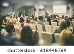 a lot of young people in a big... | Shutterstock . vector #618448769