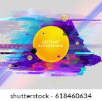 glitch geometric abstract... | Shutterstock .eps vector #618460634