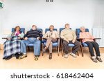 Small photo of Senior adults in a nursing home for the elderly doing leisure activities