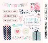 love stickers. signs  symbols ... | Shutterstock .eps vector #618463340