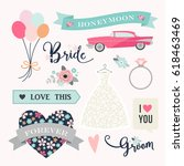 love stickers. signs  symbols ... | Shutterstock .eps vector #618463469