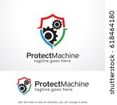protect machine logo template...
