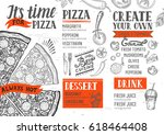 pizza food menu for restaurant... | Shutterstock .eps vector #618464408