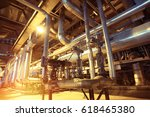 equipment  cables and piping as ... | Shutterstock . vector #618465380