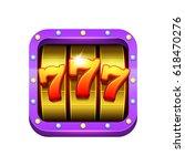 slot machine illustration.... | Shutterstock .eps vector #618470276
