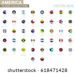 america flags collection. big... | Shutterstock .eps vector #618471428