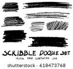 doodle hand drawn scribble... | Shutterstock .eps vector #618473768