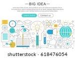 elegant thin line flat modern... | Shutterstock . vector #618476054