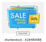 trendy flat geometric vector... | Shutterstock .eps vector #618480488