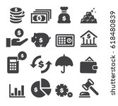 finance icons  black edition  | Shutterstock .eps vector #618480839