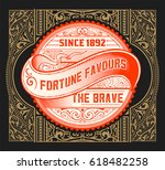 old card baroque | Shutterstock .eps vector #618482258