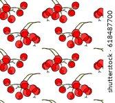 berries. seamless vector... | Shutterstock .eps vector #618487700