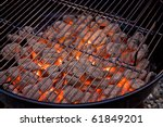 Barbecue Grill And Hot Coal