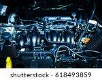 The car engine, Engine, Car engine background - stock photo