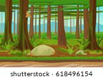 cartoon classic forest woods...