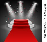 podium winners. vector... | Shutterstock .eps vector #618503780