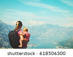 mother with little daughter... | Shutterstock . vector #618506300