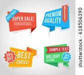 origami design super sale labels | Shutterstock .eps vector #618506390