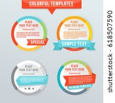 infographic circle design label ... | Shutterstock .eps vector #618507590