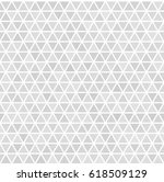 gray seamless triangle pattern. ... | Shutterstock .eps vector #618509129