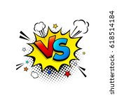 fight comic speech bubble with... | Shutterstock .eps vector #618514184