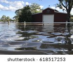 american barn shed in flood... | Shutterstock . vector #618517253