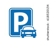 parking sign | Shutterstock .eps vector #618520154