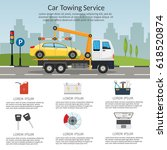 tow truck city road assistance...   Shutterstock .eps vector #618520874