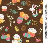easter pattern | Shutterstock .eps vector #618525806